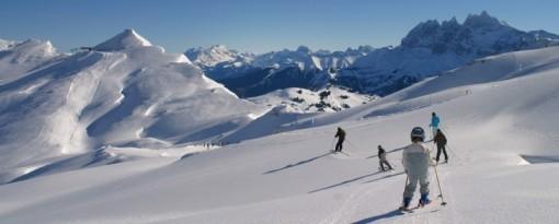 Avoriaz ski area, Portes du Soleil, France