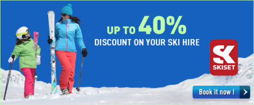 Skiset - Up to 40% discount on your ski hire - Book it now!