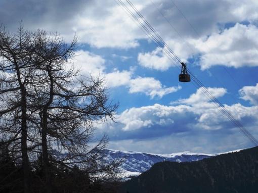 Seceda cable-car, Val Gardena, Italy