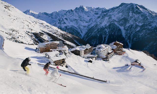 Sölden Ötztal ski area, Austria - Top 10 snow-sure ski resorts, Europe