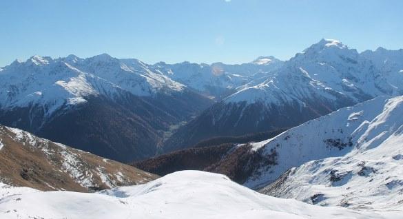 Ortler mountain, Vinschgau region, Italy - 31 October 2015