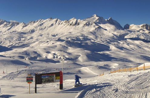 Val d'Isère, France – Weather to ski – Today in the Alps, 23 November 2015
