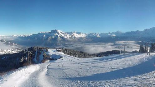 Megève, France - Weather to ski - Today in the Alps, 27 November 2015