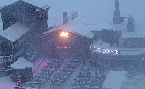 Val d'Isère, France - Weather to ski - Today in the Alps, 2 January 2016