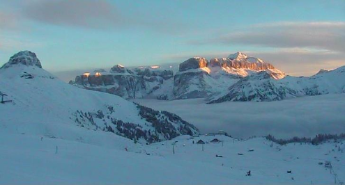 Canazei, Italy - Weather to ski - Today in the Alps, 10 January 2016