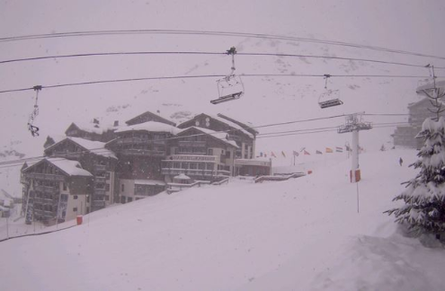 Val Thorens, France - Weather to ski - Today in the Alps, 31 January 2016