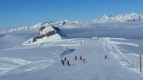 Flaine, France - Weather to ski - Today in the Alps, 13 March 2016