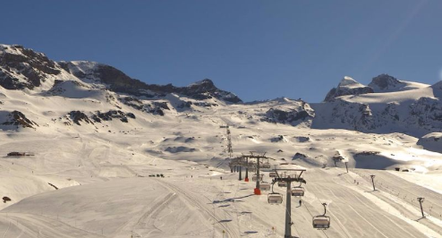 Cervinia, Italy - Weather to ski - Today in the Alps, 20 April 2016