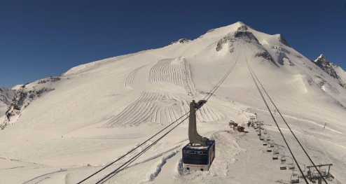 Grande Motte glacier, Tignes, France - Weather to ski - Today in the Alps, 29 April 2016
