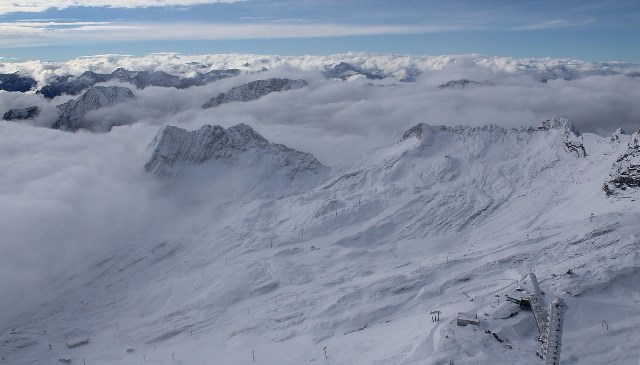 Zugspitze, Germany - Weather to ski - Today in the Alps, 4 October 2016