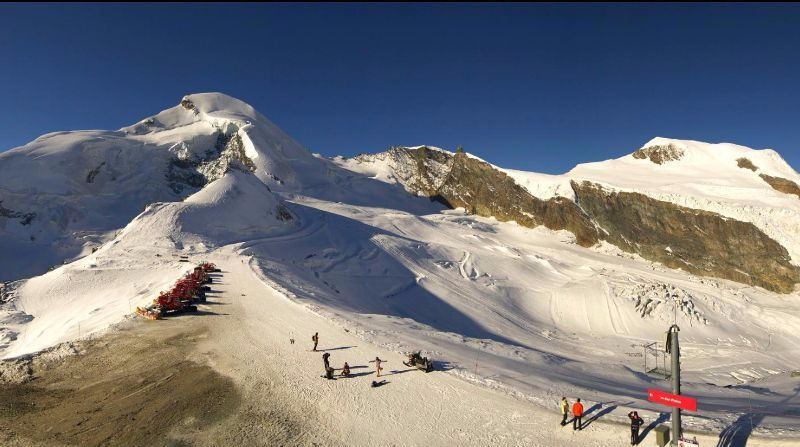 Saas-Fee, Switzerland - Weather to ski - Today in the Alps, 4 October 2016