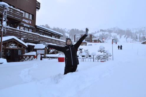 La Plagne, France – Weather to ski – Today in the Alps, 13 January 2017