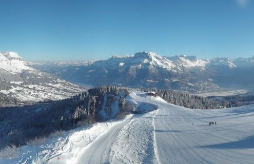 Combloux, France – Weather to ski – Today in the Alps, 17 January 2017