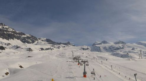 Cervinia, Italy – Weather to ski – Today in the Alps, 31 March 2017