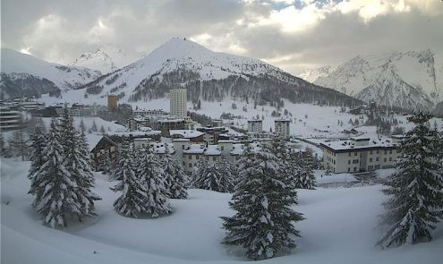Sestriere, Italy – Weather to ski – Today in the Alps, 3 April 2017