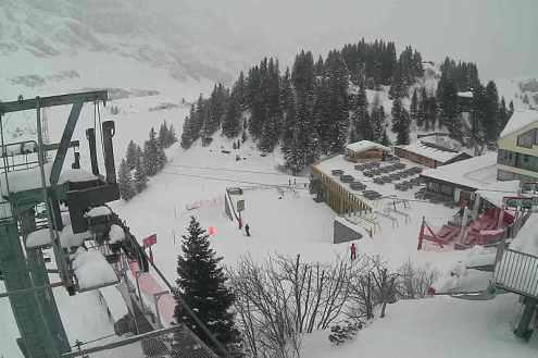 Trübsee mid-station, Engelberg, Switzerland – Weather to ski – Snow report, 11 December 2020