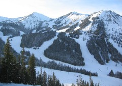 Crystal Mountain ski area, Washington, USA