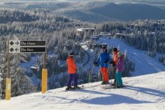 Silver Star ski area, British Columbia, Canada