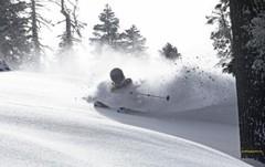 Sugar Bowl ski area, California, USA