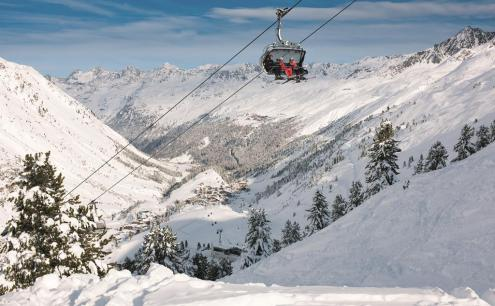 Obergurgl ski area, Austria - Weather to ski - Top 10 early season ski resorts, Europe