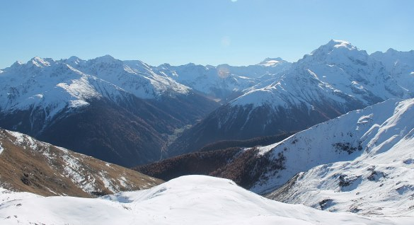 Ortler mountain, Vinschgau region, Italy - 31 October 2015