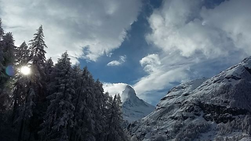 Zermatt, Switzerland - Weather to ski - Today in the Alps, 22 November 2015