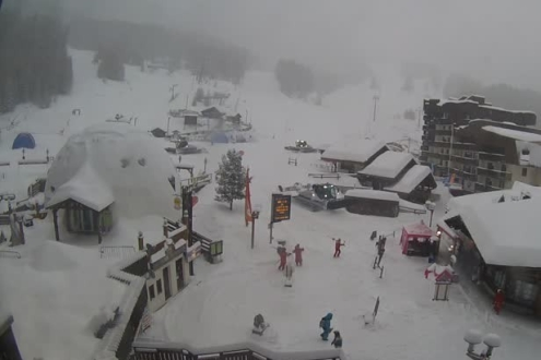 Arc 1800, France - Weather to ski - Snow report, 28 December 2015