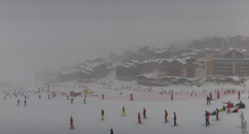 Val Thorens, France - Weather to ski - Today in the Alps, 11 January 2016