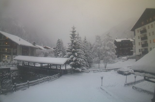 Champoluc, Italy - Weather to ski - Today in the Alps, 11 January 2016