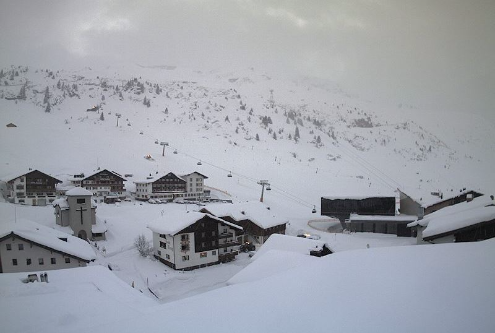 Zürs, Austria - Weather to ski - Today in the Alps, 20 January 2016