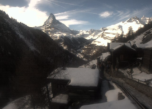 Zermatt, Switzerland - Weather to ski - Today in the Alps, 1 February 2016