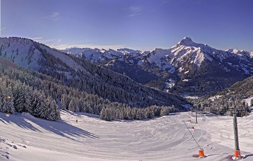 La Chapelle d'Abondance, France - Weather to ski - Today in the Alps, 5 February 2016