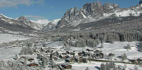 Cortina, Italy - Weather to ski - Today in the Alps, 18 February 2016