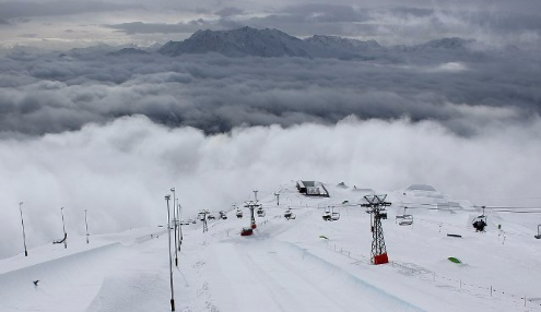 Laax, Switzerland - Weather to ski - Today in the Alps, 23 February 2016