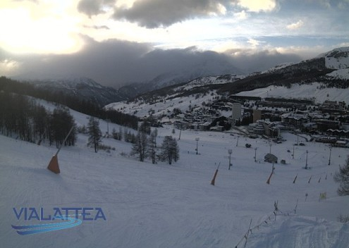 Sestriere, Italy - Weather to ski - Snow report, 15 March 2016