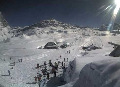 Cervinia, Italy - Weather to ski - Today in the Alps, 9 April 2016