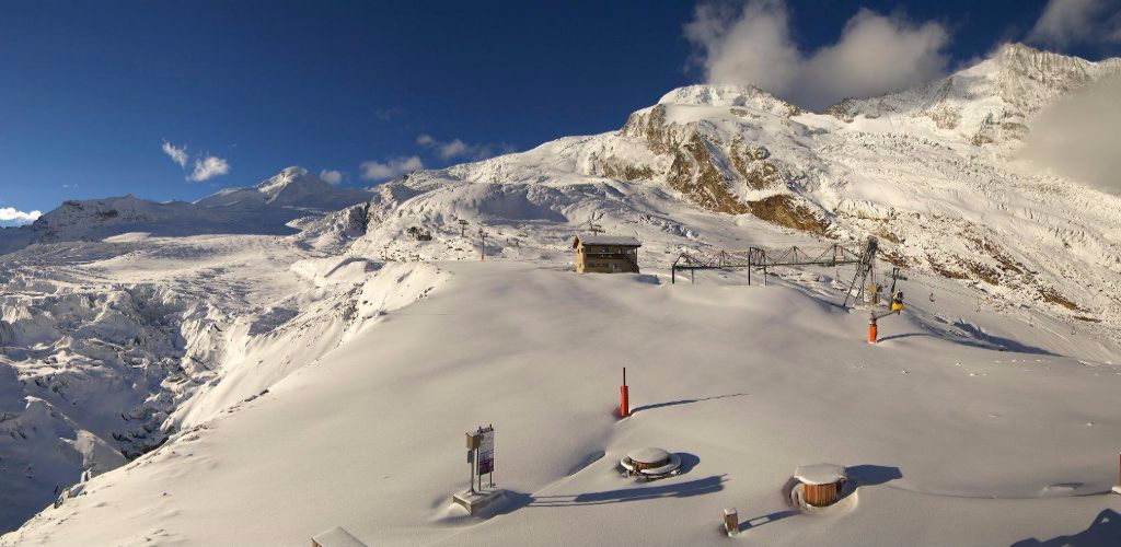 Saas-Fee, Switzerland – Weather to ski – Today in the Alps, 15 October 2016