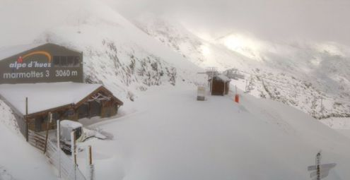 40cm+ of new snow at altitude in Alpe d'Huez - 6 November 2016 - Photo: alpedhuez.com
