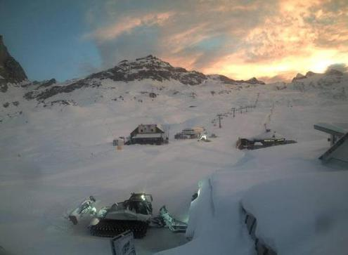 Cervinia, Italy – Weather to ski – Today in the Alps, 24 December 2016