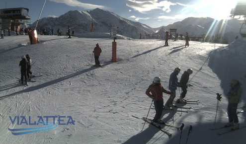 Sestriere, Italy – Weather to ski – Today in the Alps, 4 January 2017
