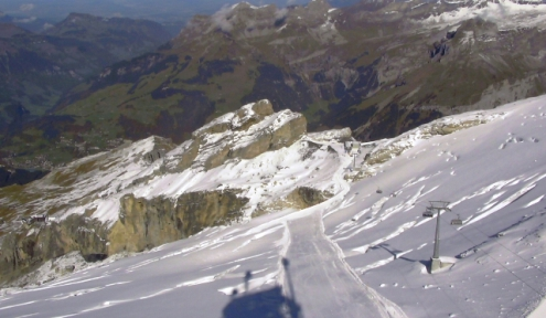 Titlis glacier, Engelberg, Switzerland – Weather to ski – Today in the Alps, 10 October 2017
