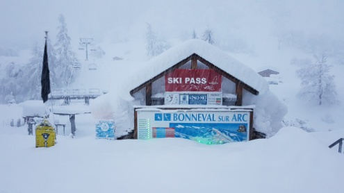 Bonneval sur Arc, France – Weather to ski – Today in the Alps, 8 January 2018
