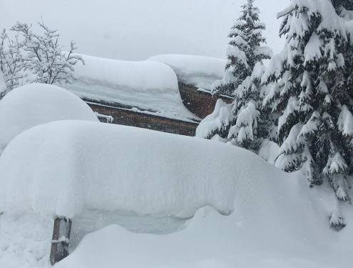 Val d'Isère this morning – 22 January 2018 – Photo: facebook.com/Val-disere-Location Val d'Isère, France – Weather to ski – Today in the Alps, 22 January 2018