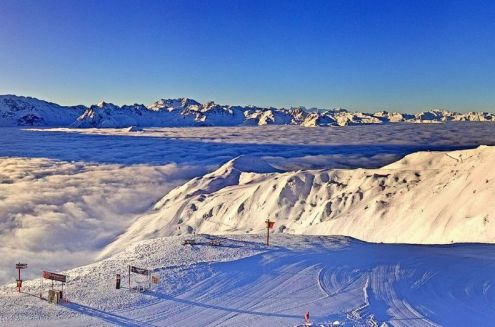 La Plagne, France – Weather to ski – Today in the Alps, 8 February 2018