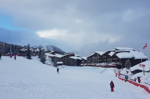 Arc 1800, France – Weather to ski – Today in the Alps, 12 February 2018