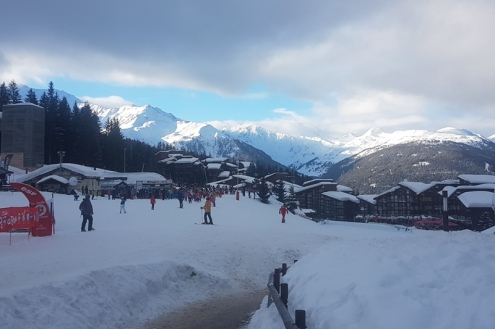 Arc 1800, France – Weather to ski – Today in the Alps, 14 February 2018