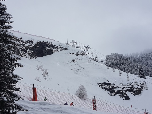Flaine, France – Weather to ski – Today in the Alps, 5 April 2018