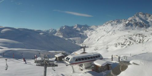 Val d'Isère, France – Weather to ski – Today in the Alps, 12 November 2018