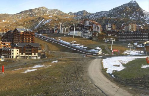Little natural snow in Val Thorens, France, 13 November 2019 – Weather to ski – Who got the most snow in the Alps in 2018-19?