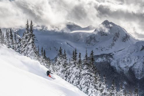 Powder skiing in Whistler, Canada on 10 January 2019 – Weather to ski – Who got the most snow in North America in 2018-19?